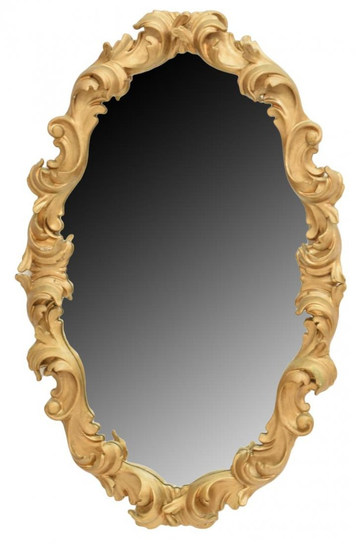 ITALIAN BAROQUE STYLE COMPOSITION WALL MIRROR