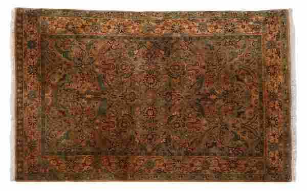 "INDO-PERSIAN WOOL RUG, 4' x 6'7"""