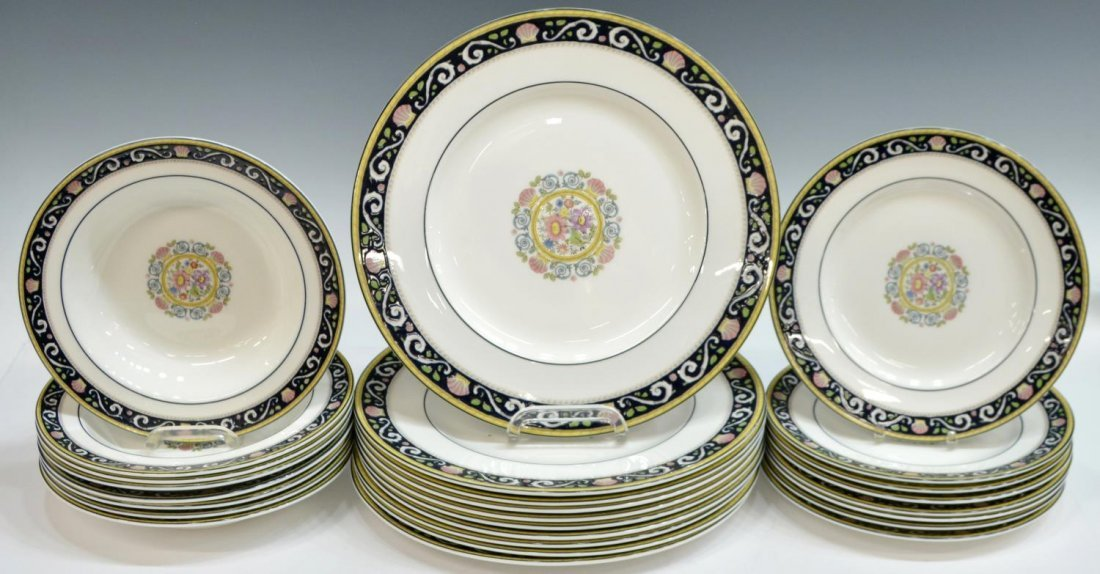 (38) ENGLISH WEDGWOOD 'RUNNYMEDE' DINNER SERVICE - 2