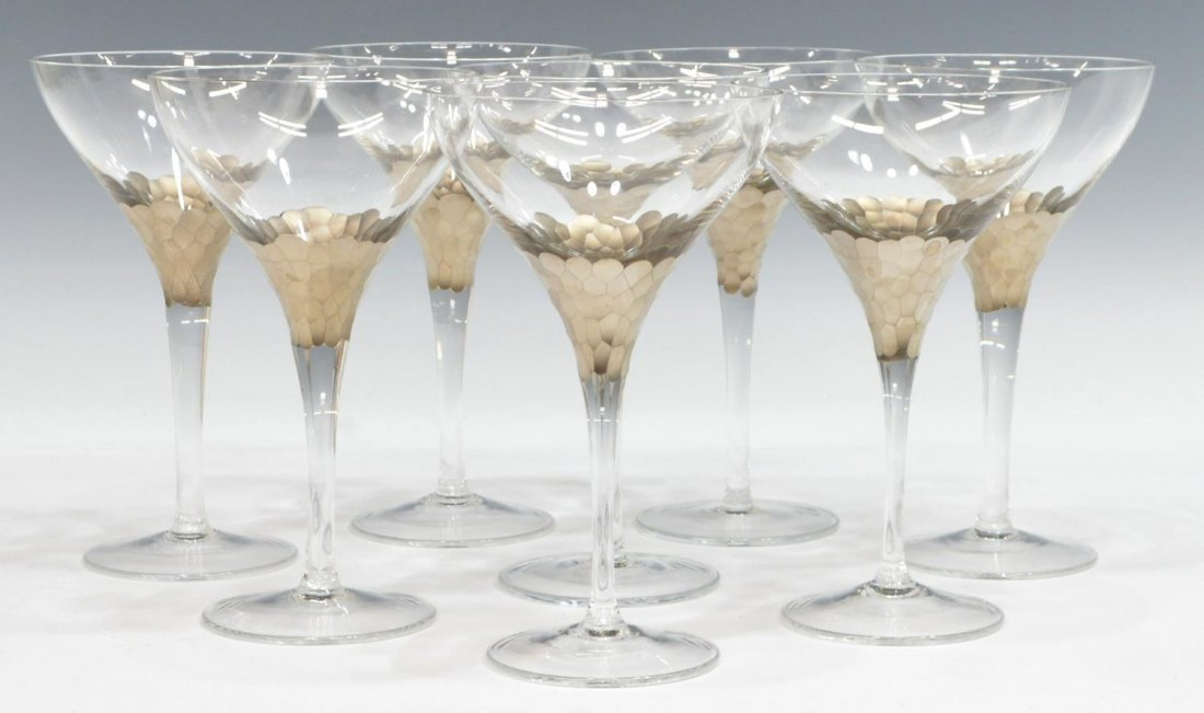 (8) FITZ & FLOYD 'DAPHNE' COUPE CHAMPAGNE STEMWARE