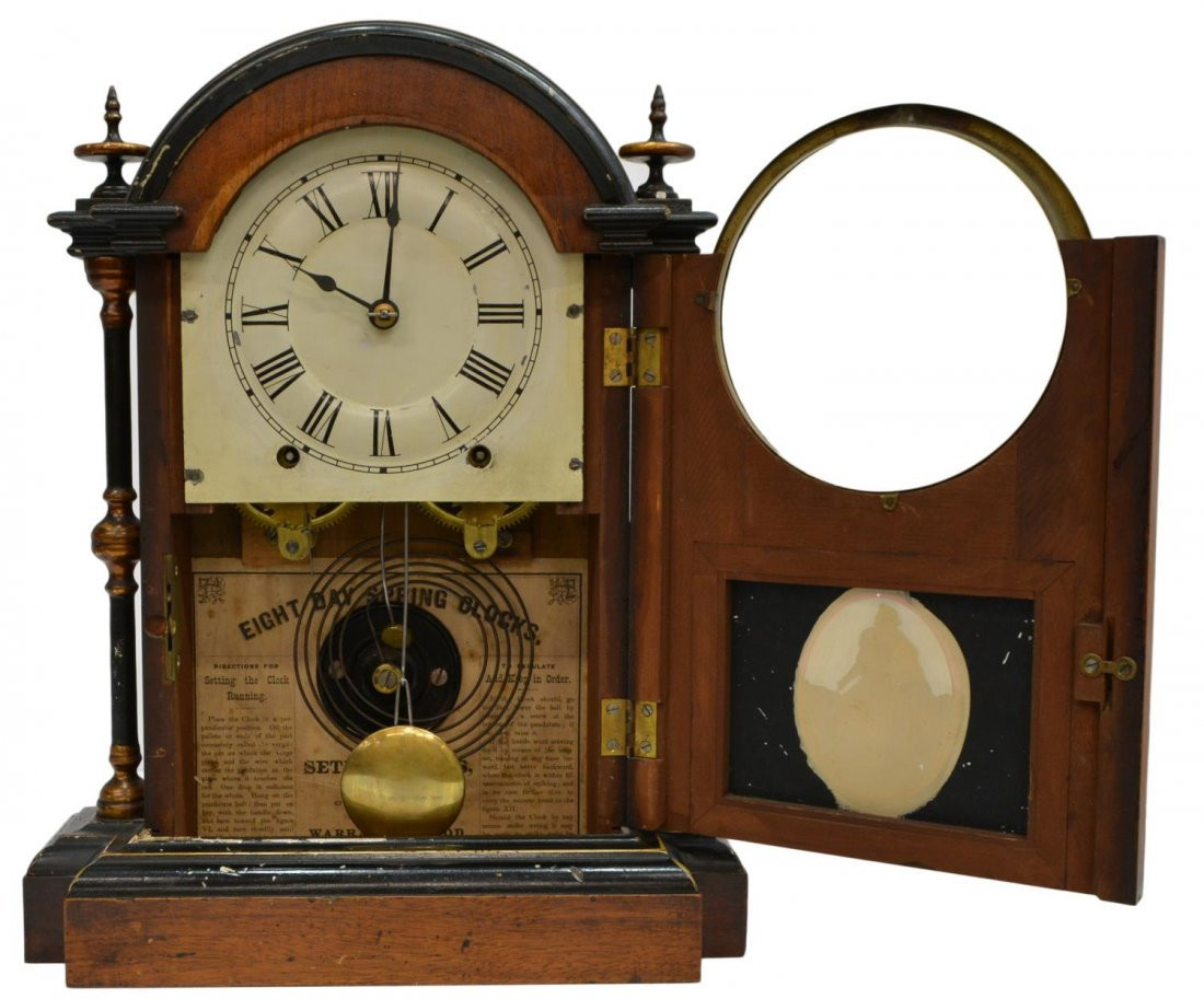 SETH THOMAS EIGHT DAY SHELF CLOCK - 5