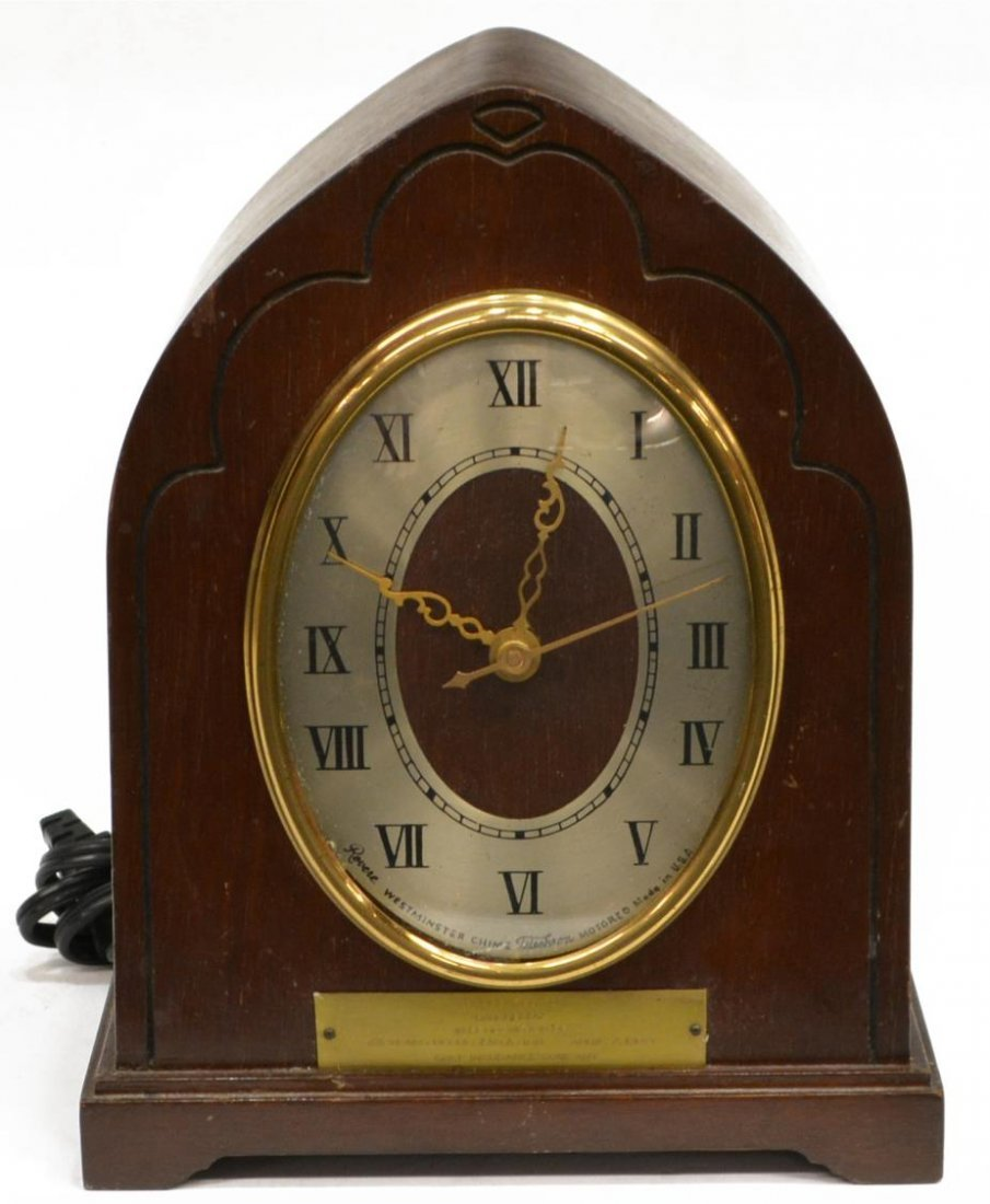 REVERE WESTMINSTER CHIMING ELECTRIC CLOCK OPERATES