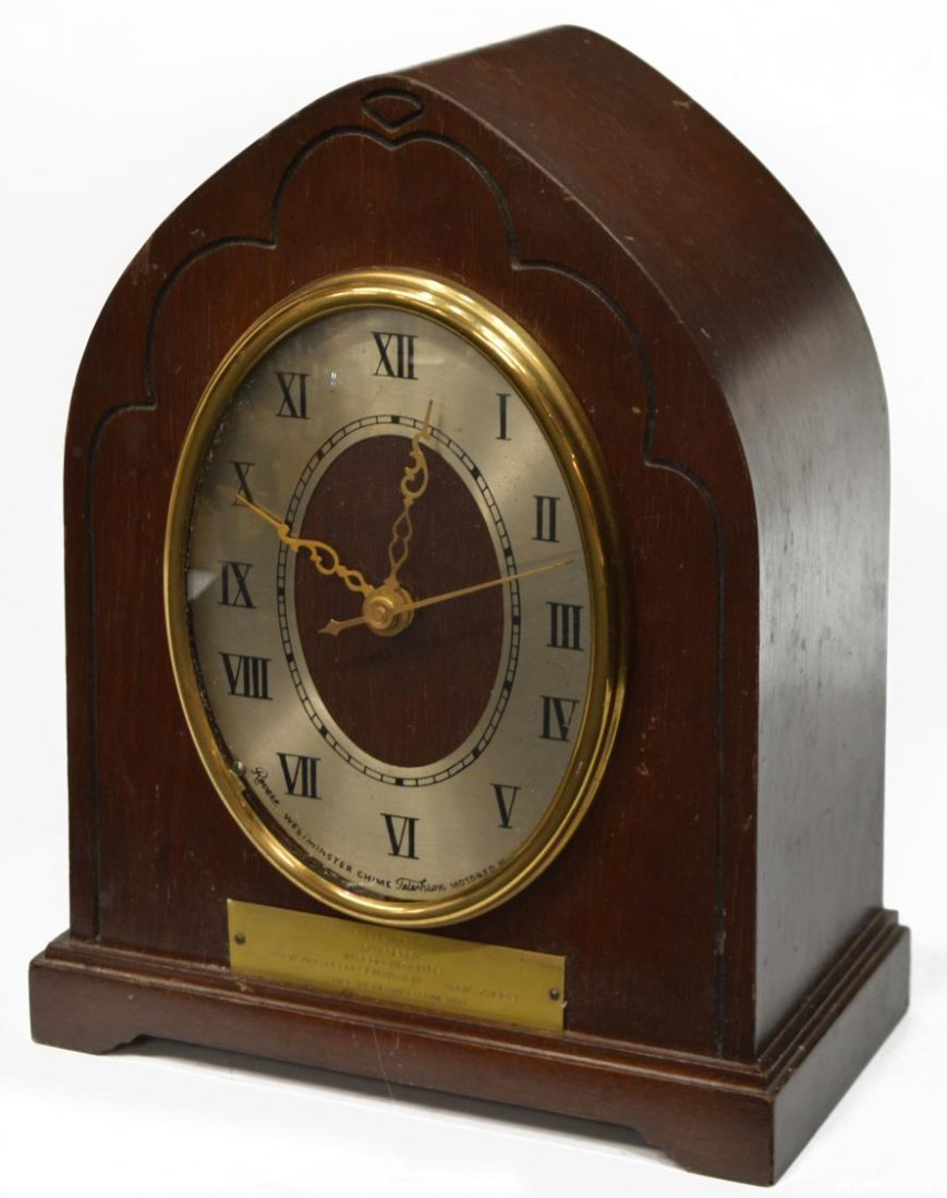 REVERE WESTMINSTER CHIMING ELECTRIC CLOCK OPERATES - 2