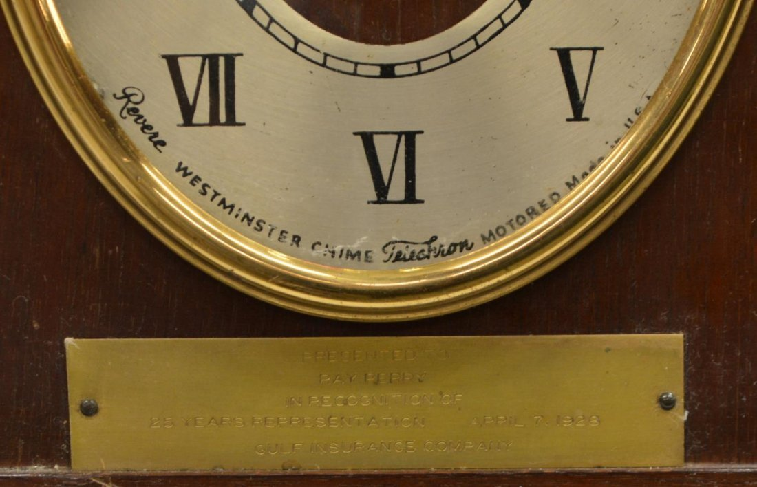REVERE WESTMINSTER CHIMING ELECTRIC CLOCK OPERATES - 4