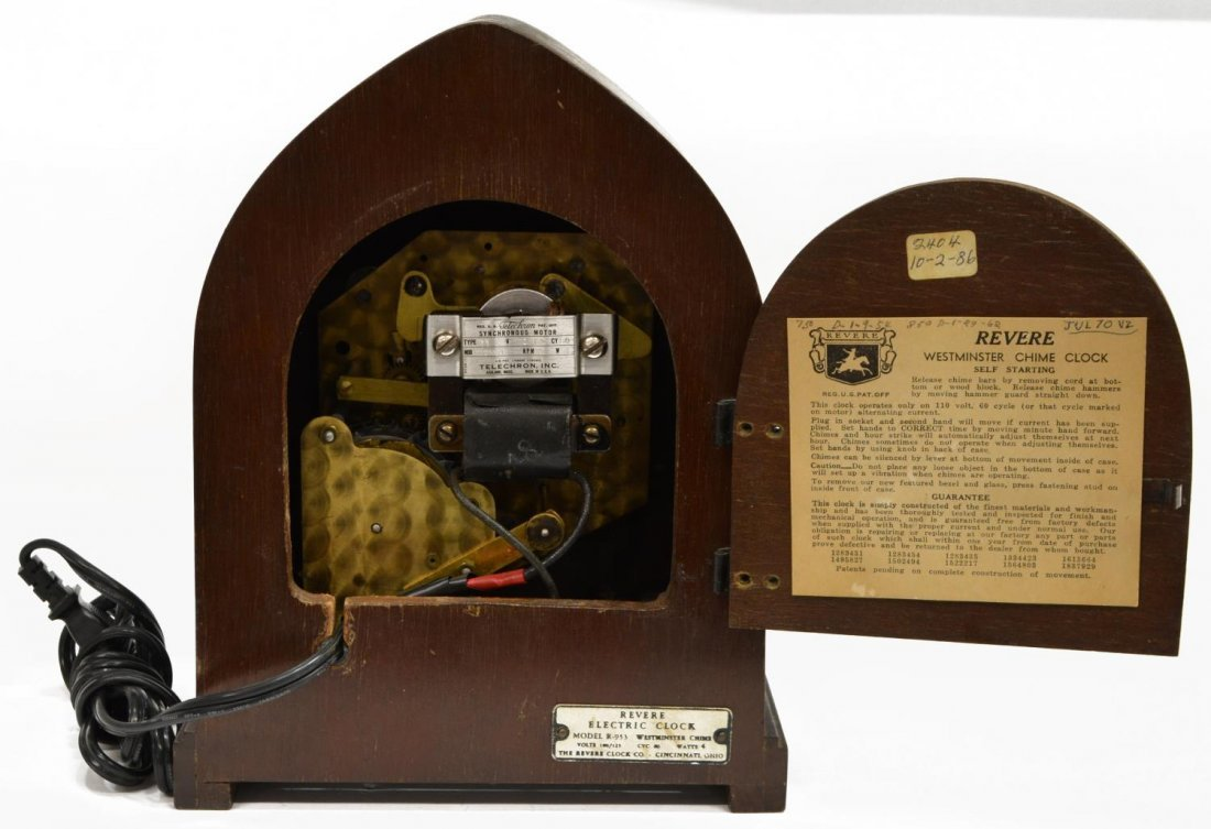 REVERE WESTMINSTER CHIMING ELECTRIC CLOCK OPERATES - 6