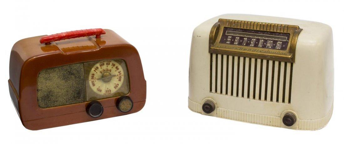 (2) FADA MODEL 711 CATALIN & BENDIX 111W RADIOS