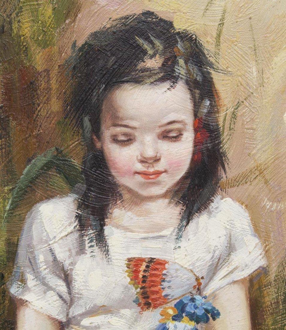 (2) FRAMED OIL PAINTINGS OF CHILDREN, B. FRANK - 4