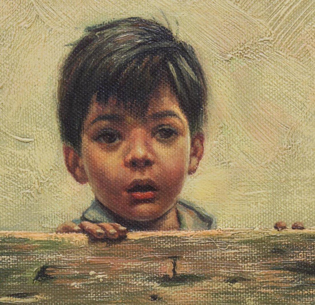 (2) FRAMED OIL PAINTINGS OF CHILDREN, B. FRANK - 7