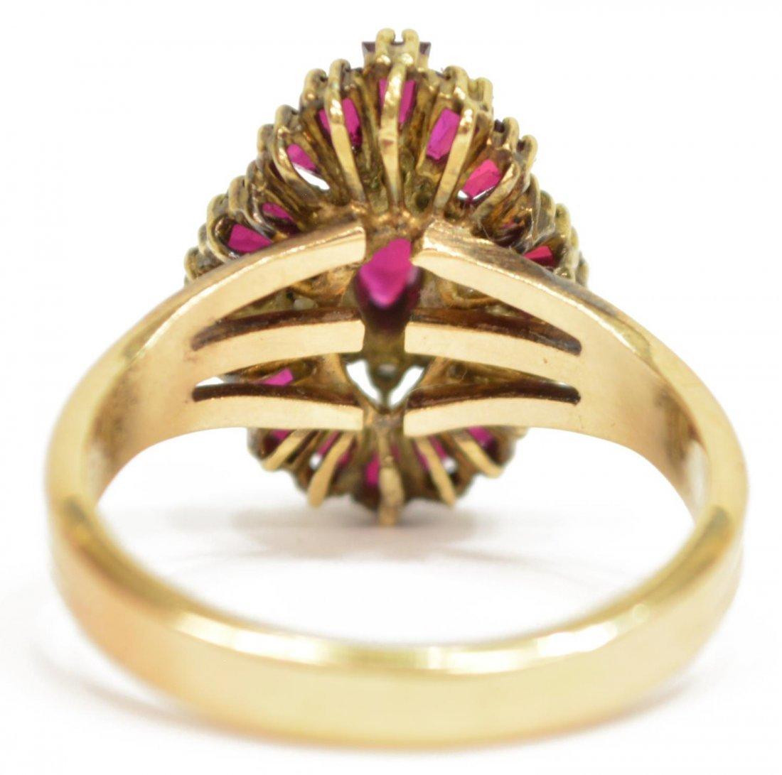 (2) LADIES 14KT GOLD DIAMOND & RUBY JEWELRY - 5