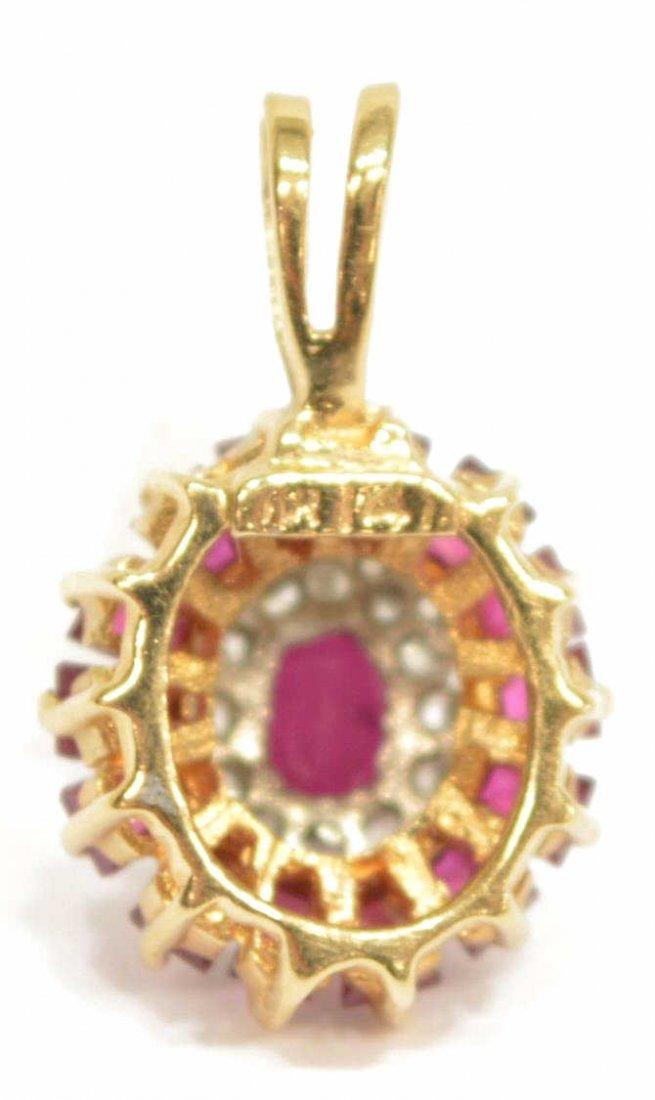 (2) LADIES 14KT GOLD DIAMOND & RUBY JEWELRY - 7