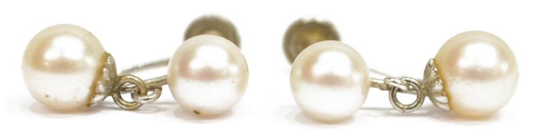 (3) LADIES ESTATE 14KT PEARL EARRINGS & RING - 5