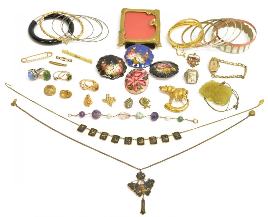 (LOT) LADIES ESTATE VINTAGE COSTUME JEWELRY GROUP