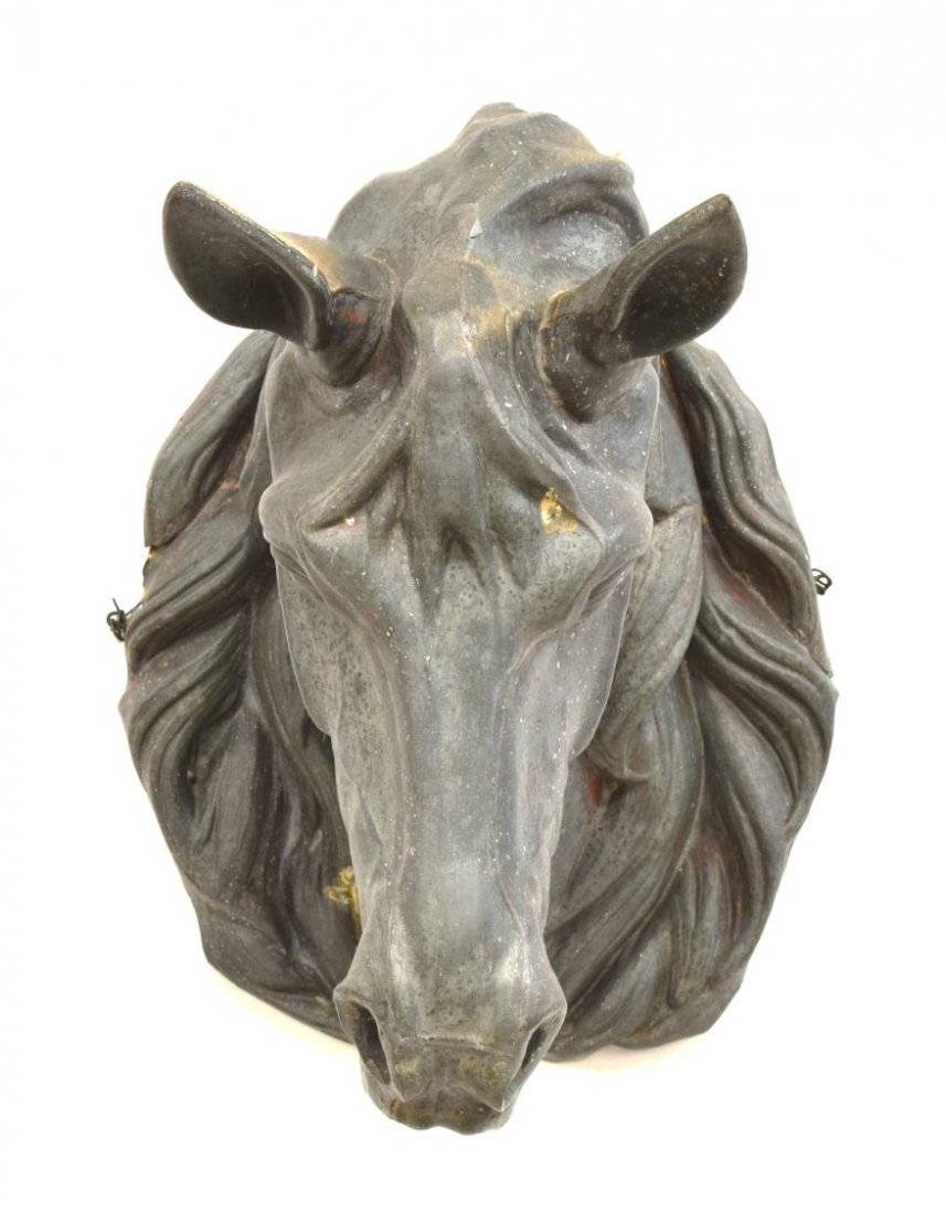 ANTIQUE FRENCH ZINC HORSE HEAD TRADE SIGN - 3