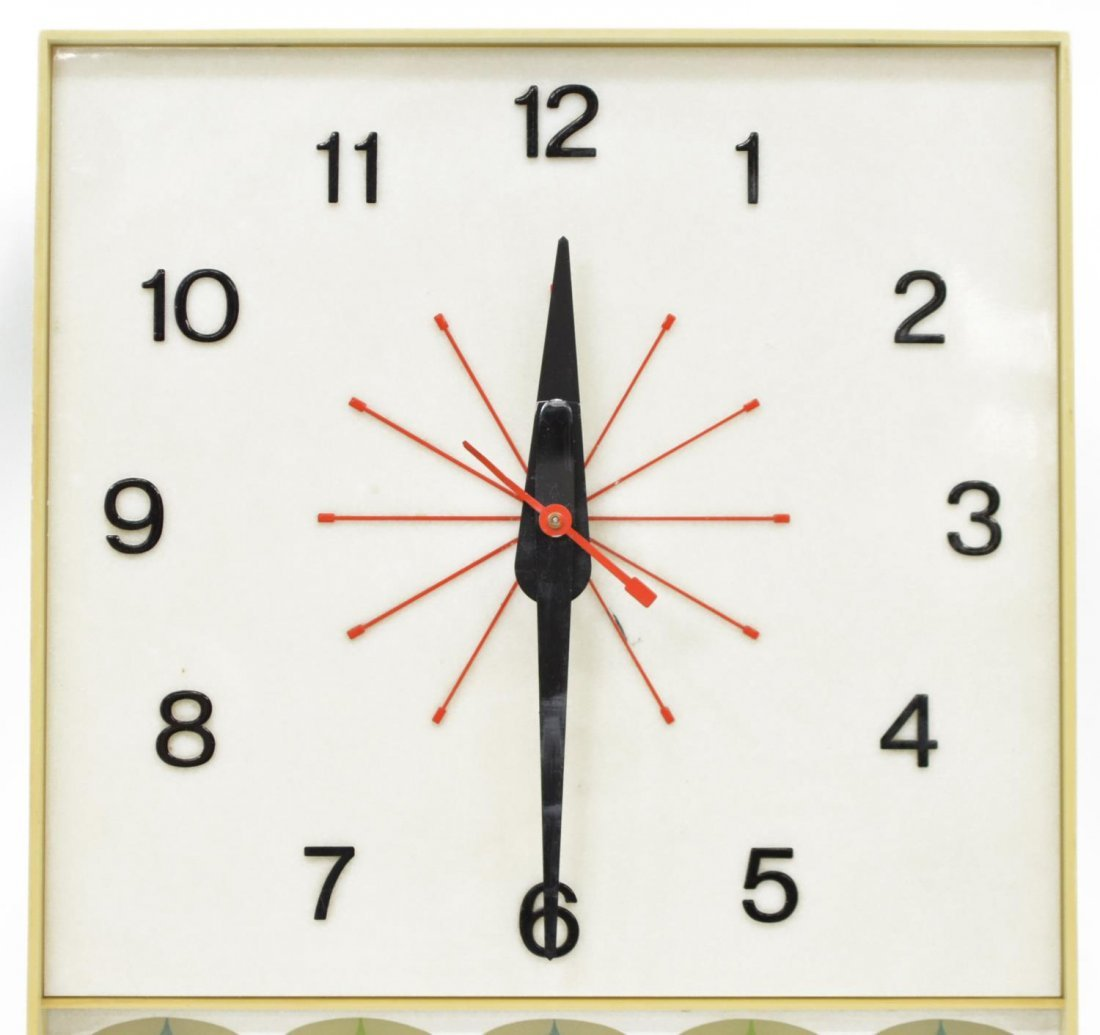 COCA COLA ADVERTISING WALL CLOCK, OPERATES - 2