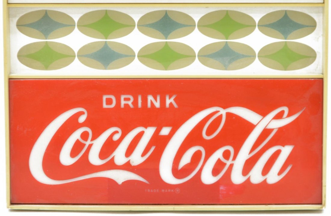 COCA COLA ADVERTISING WALL CLOCK, OPERATES - 3
