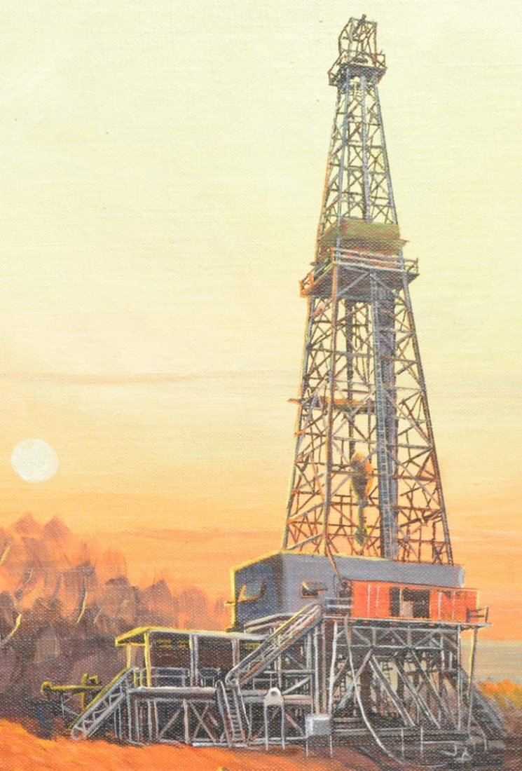 (2)JACK WHITE (TEXAS, B. 1933), OIL WELL PAINTINGS - 5