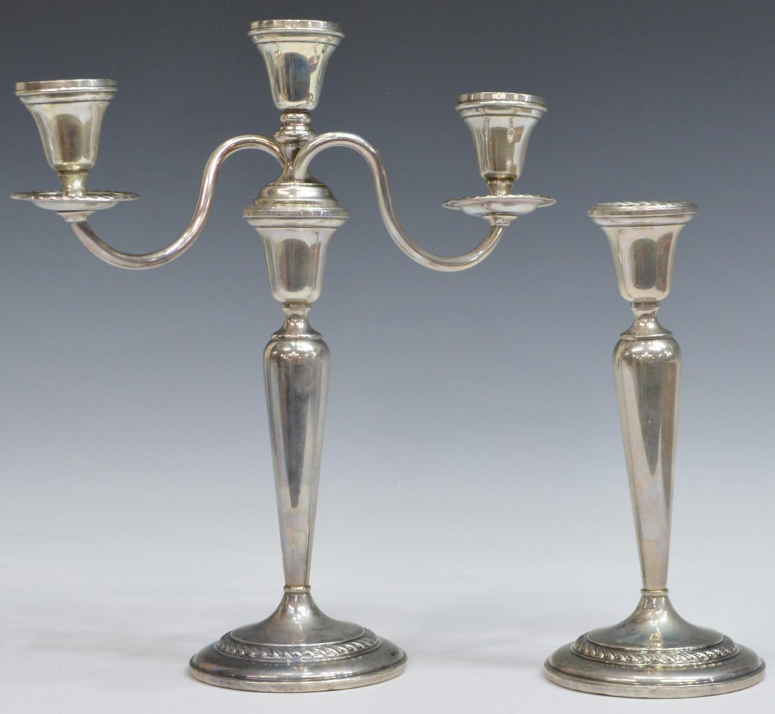 (2) PREISNER WEIGHTED STERLING CANDLESTICKS