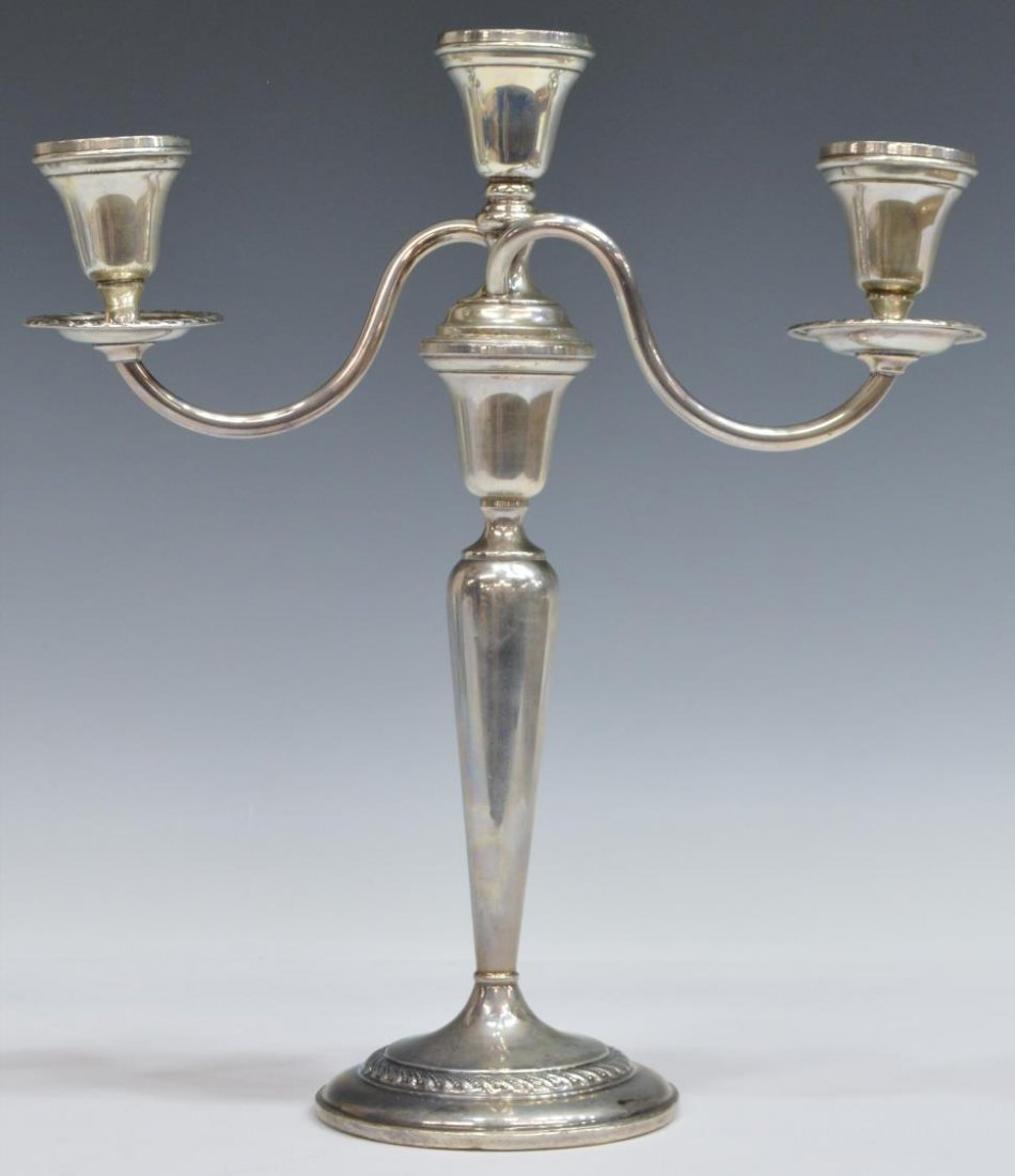 (2) PREISNER WEIGHTED STERLING CANDLESTICKS - 3