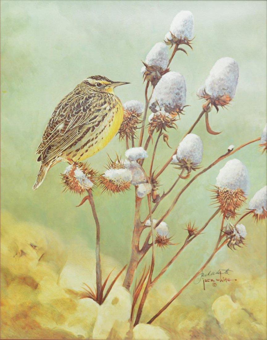 JACK WHITE (TEXAS, B. 1933), COTTON & BIRD PRINT