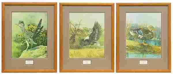(3) JACK WHITE (TEXAS, B. 1933), BIRD PRINTS