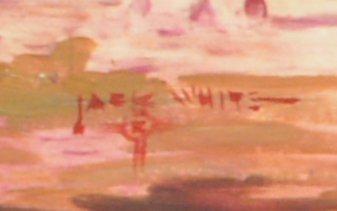 JACK WHITE (TEXAS, B. 1933) WESTERN PAINTING - 5