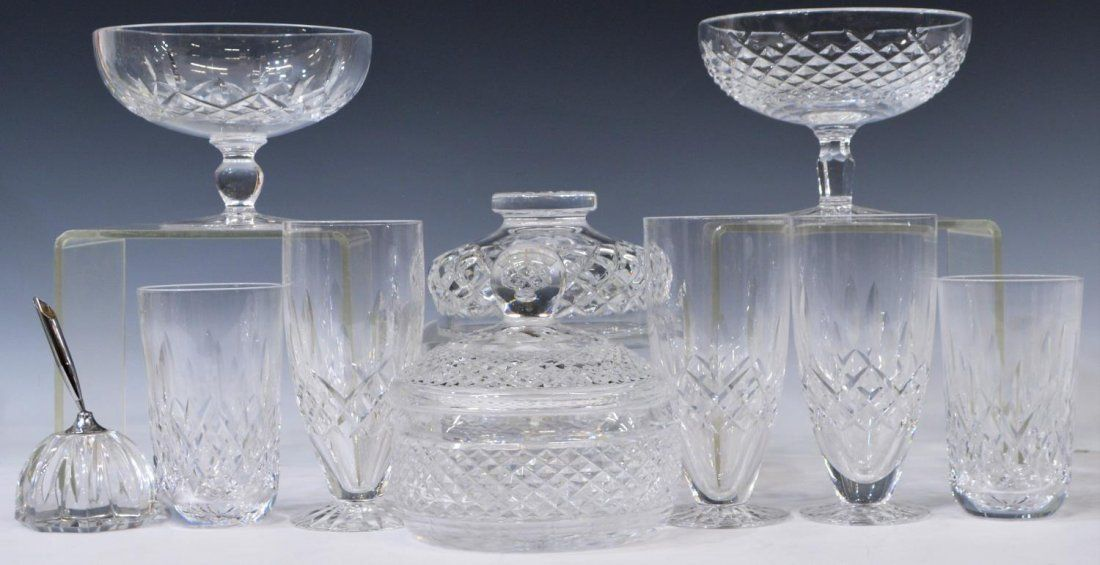 (10) WATERFORD CRYSTAL DRINK & TABLEWARE GROUP