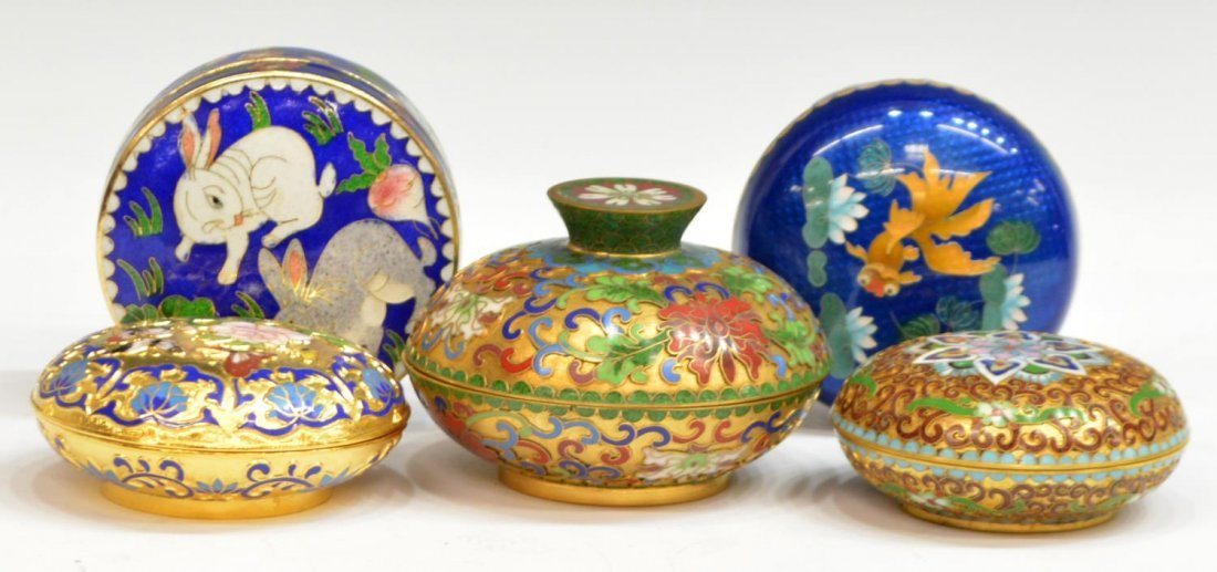 HUGE COLLECTION JAPANESE & CHINESE CLOISONNE ITEMS - 2