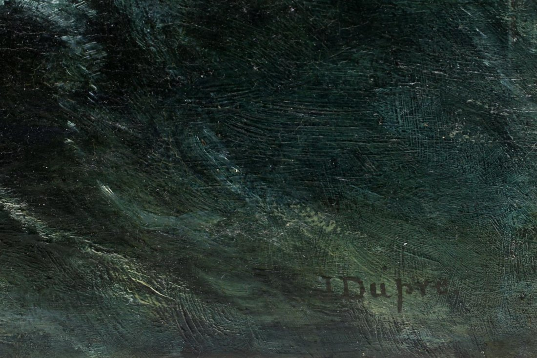 J. DUPRE, OIL PAINTING ON BOARDS, SEASCAPE, WAVES - 3