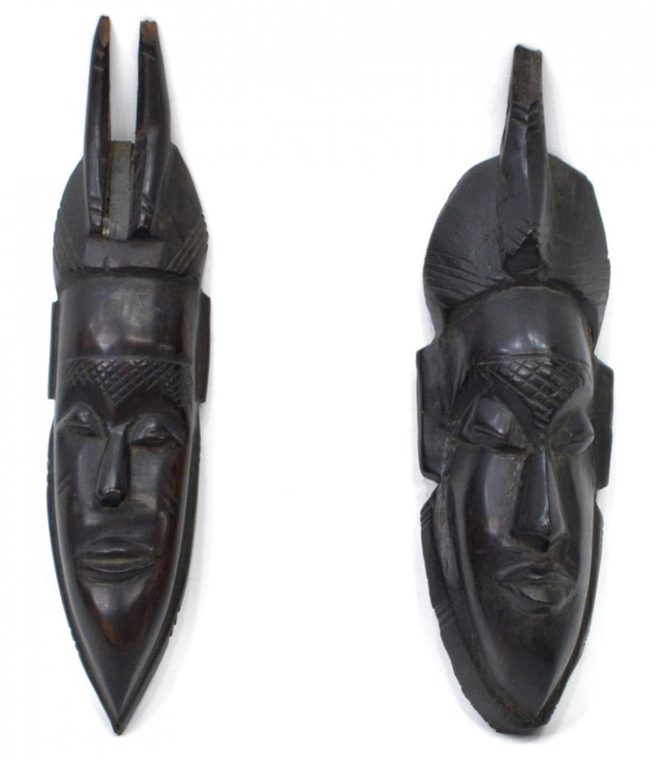 (6) DECORATIVE GROUP, TRIBAL HEADS, STANDING DUCK - 3
