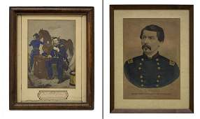 2 US CIVIL WAR GEN GEO McCLELLAN PRINTS