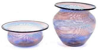 BAROVIER  TOSO MURANO ART GLASS VASE  BOWL