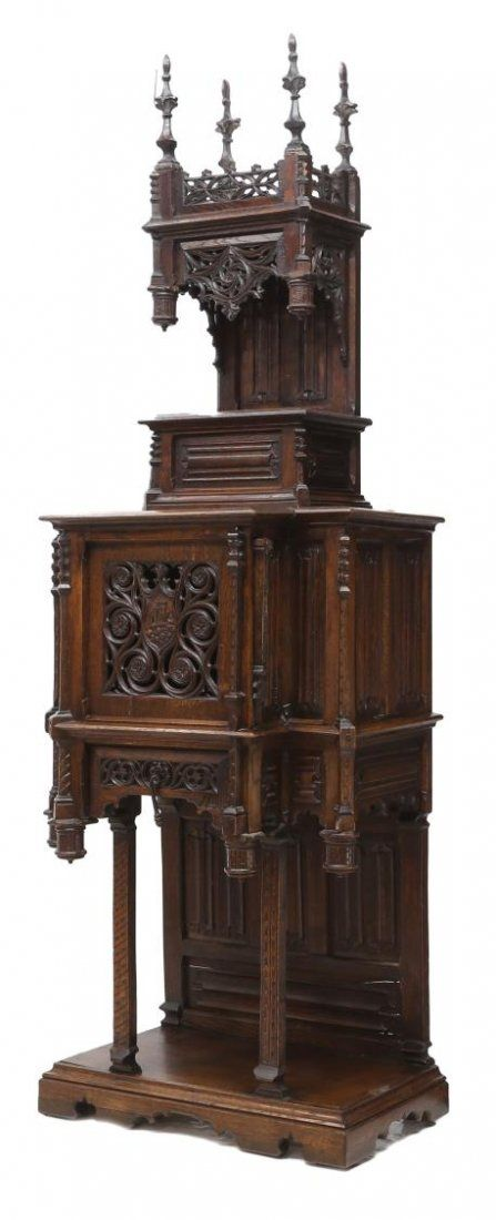 FRENCH GOTHIC REVIVAL RELIGIOUS CABINET, 19TH C.