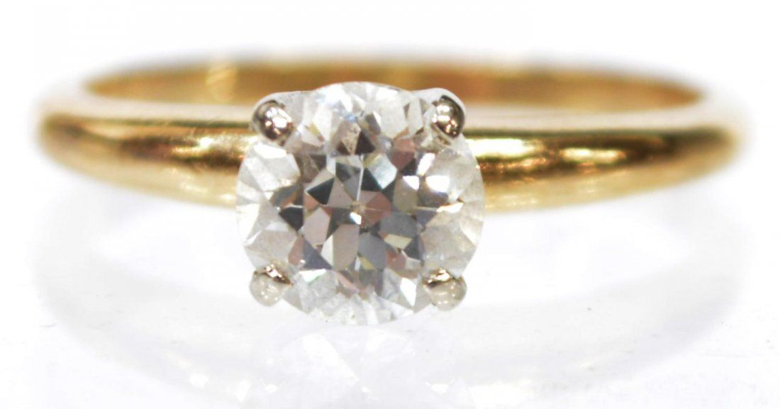 LADIES ESTATE 14KT GOLD & DIAMOND SOLITAIRE RING
