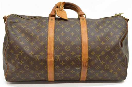 LOUIS VUITTON  KEEPALL 50  MONOGRAM DUFFLE BAG e33f8c0dc6b46