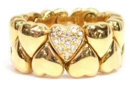 LADIES CARTIER 18KT GOLD & DIAMOND HEART RING