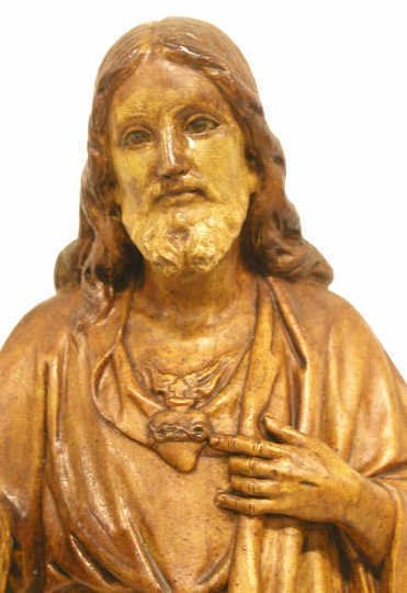 1: ANTIQUE RELIGIOUS STATUE SPAIN  16""