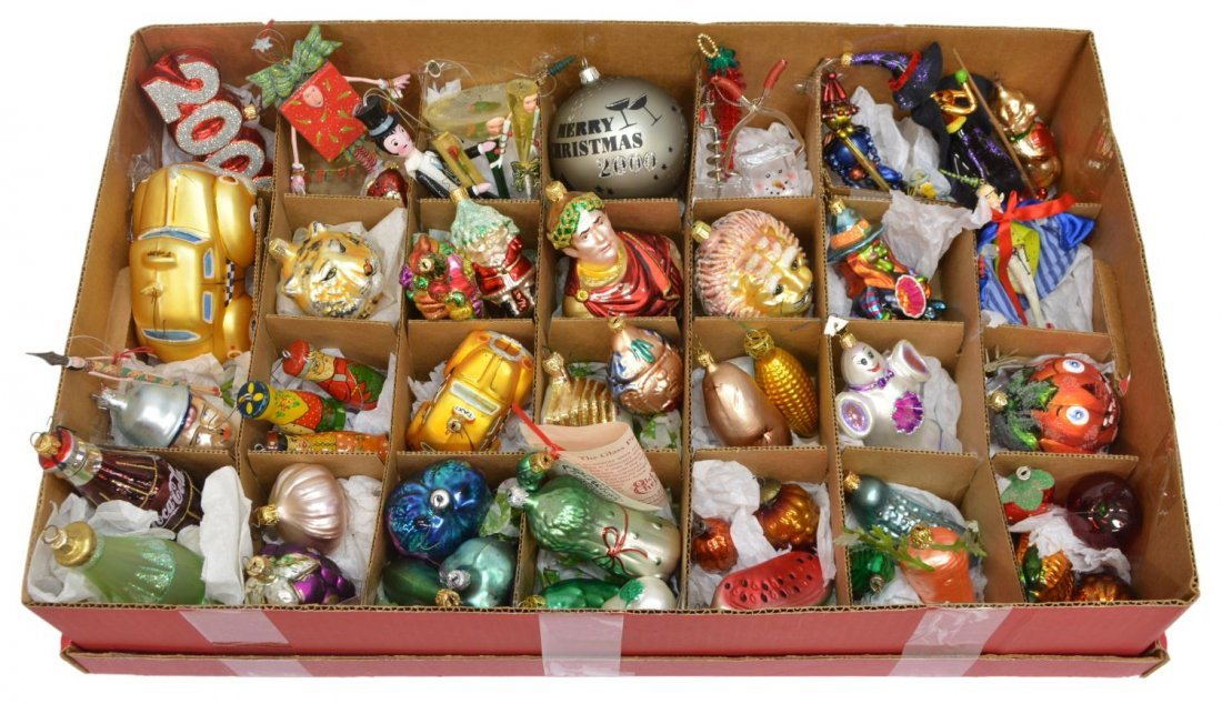 (53)RADKO & OTHER ART GLASS CHRISTMAS ORNAMENTS - 2