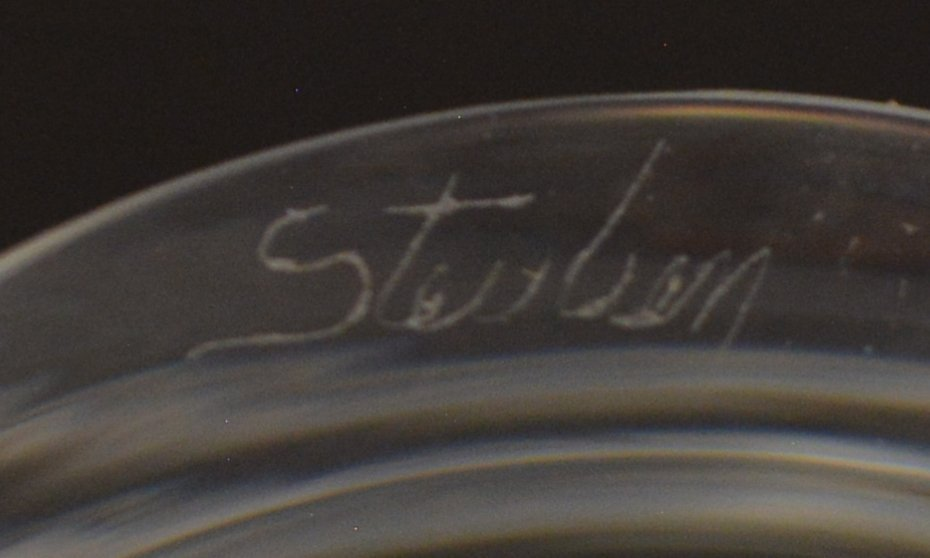 (2) STEUBEN COLORLESS ART GLASS VASE & BOWL - 4