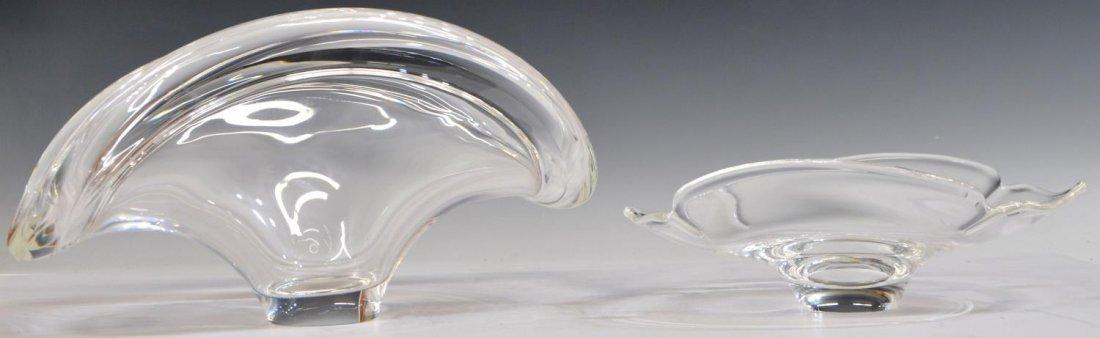 (2) LARGE STEUBEN COLORLESS ART CRYSTAL BOWLS