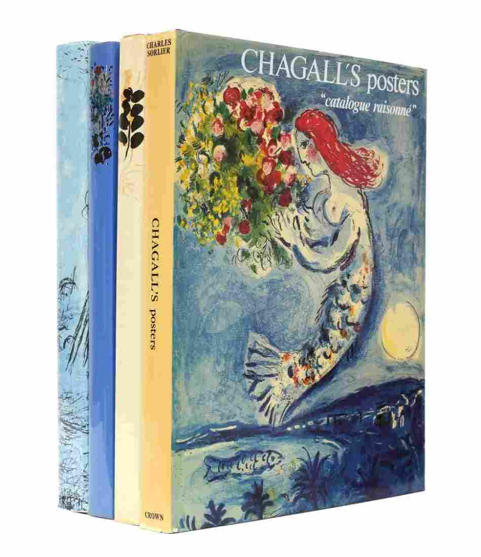 (3) MARC CHAGALL CATALOGUE RAISONNE BOOKS III IV V