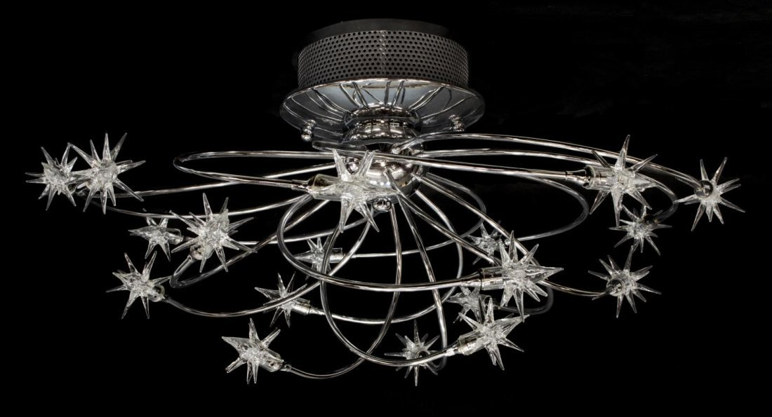 MODERN POSSINI GALAXY 18 LIGHT CHROME CHANDELIER - 2