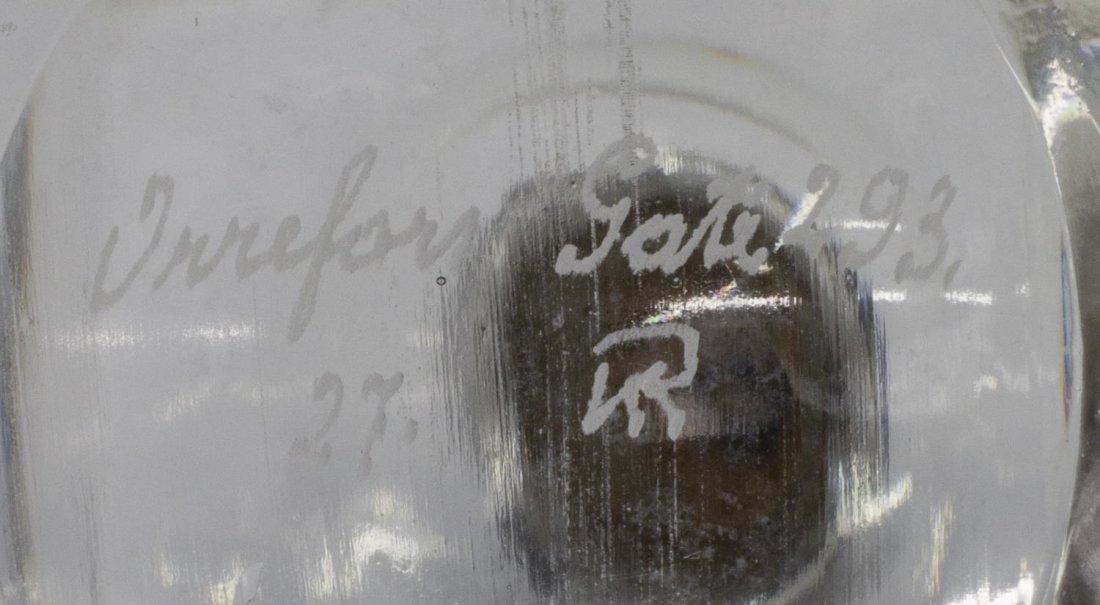 SIMON GATE ORREFORS ENGRAVED GLASS DECANTER BOTTLE - 5