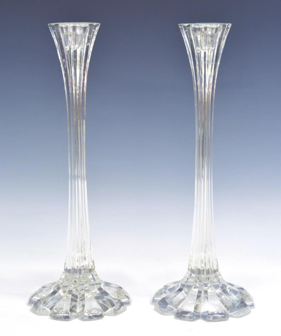 (8) ORREFORS & OTHER CRYSTAL CANDLE HOLDERS - 4