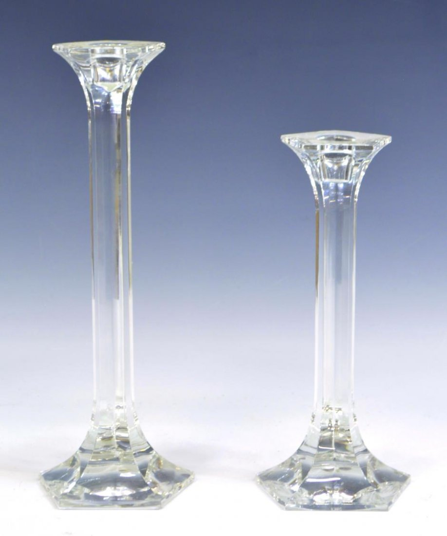 (8) ORREFORS & OTHER CRYSTAL CANDLE HOLDERS - 7