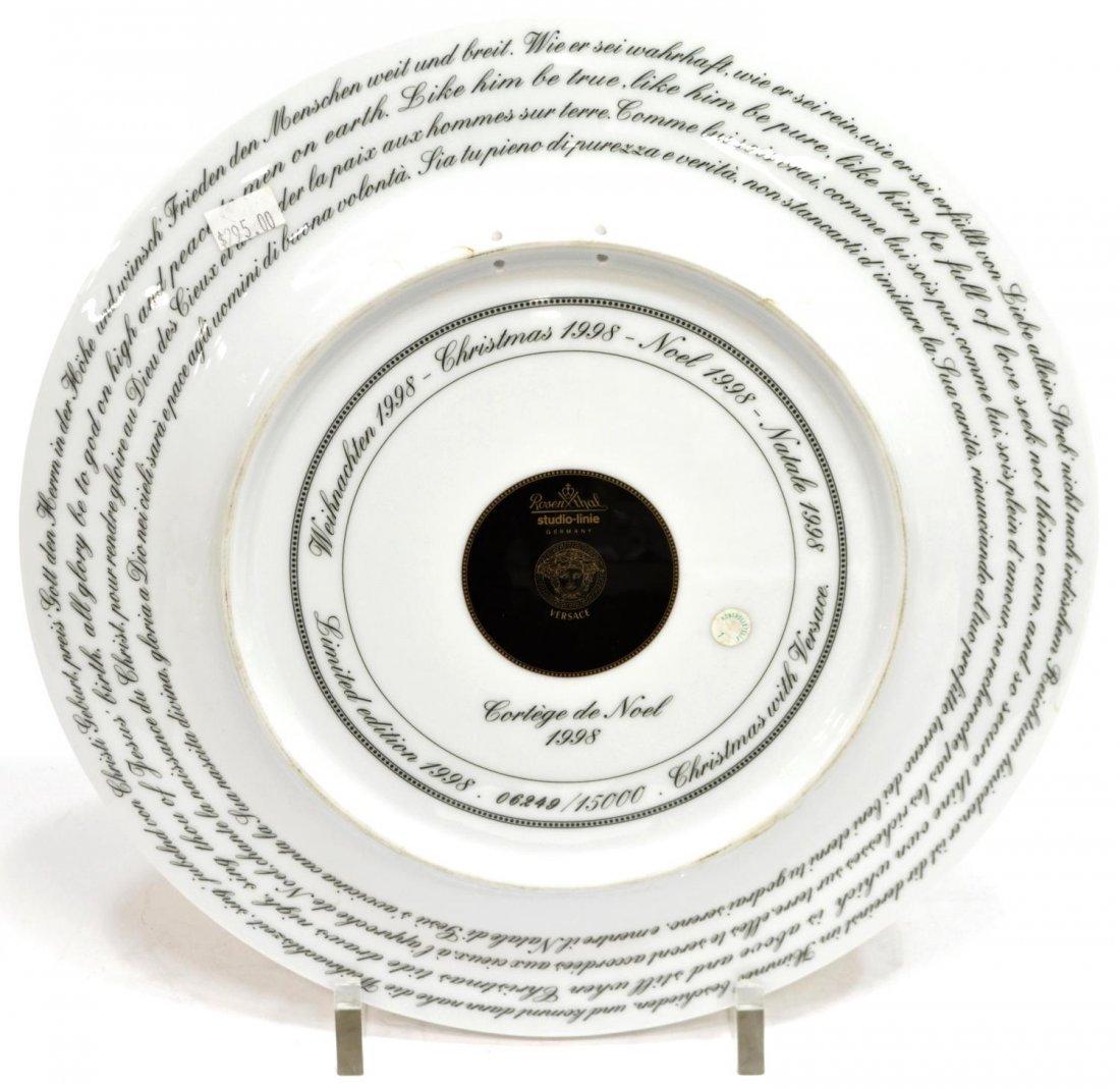 (4)VERSACE ROSENTHAL GILT PORCELAIN CABINET PLATES - 3