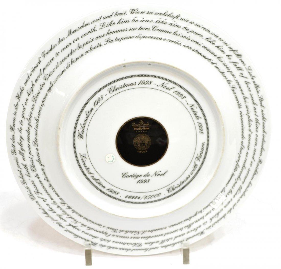 (4)VERSACE ROSENTHAL GILT PORCELAIN CABINET PLATES - 5