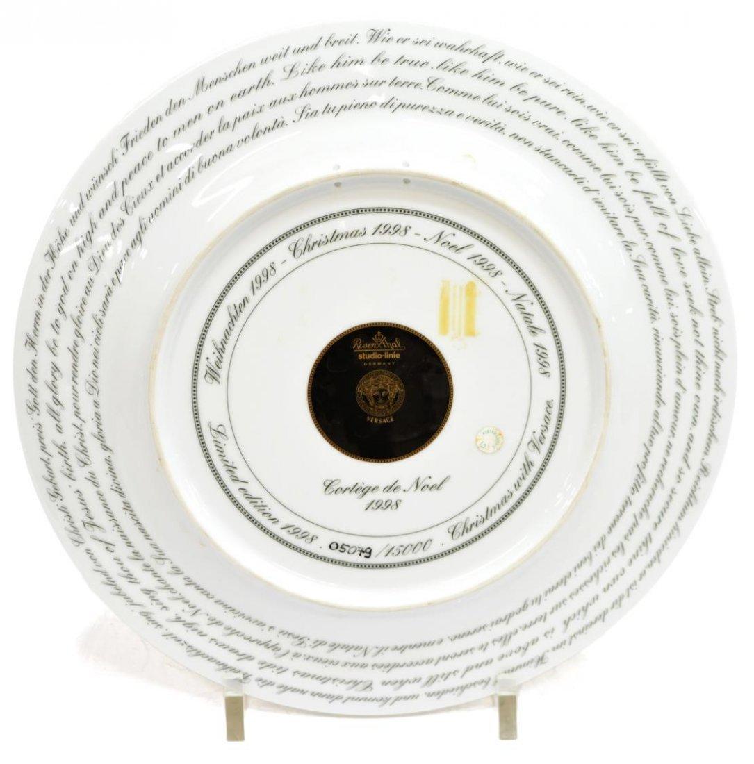 (4)VERSACE ROSENTHAL GILT PORCELAIN CABINET PLATES - 9