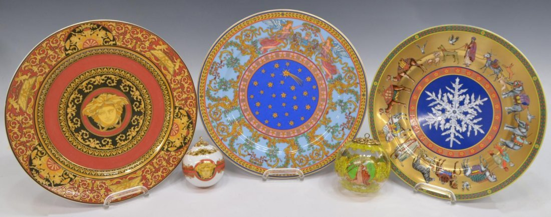 (5) VERSACE ROSENTHAL CHRISTMAS & CABINET ITEMS