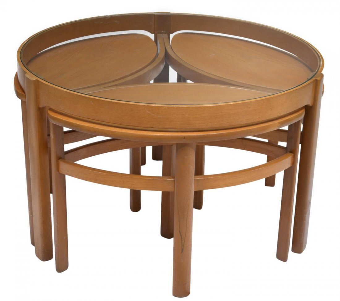 ENGLISH MID-CENTURY MODERN STYLE NESTING TABLES