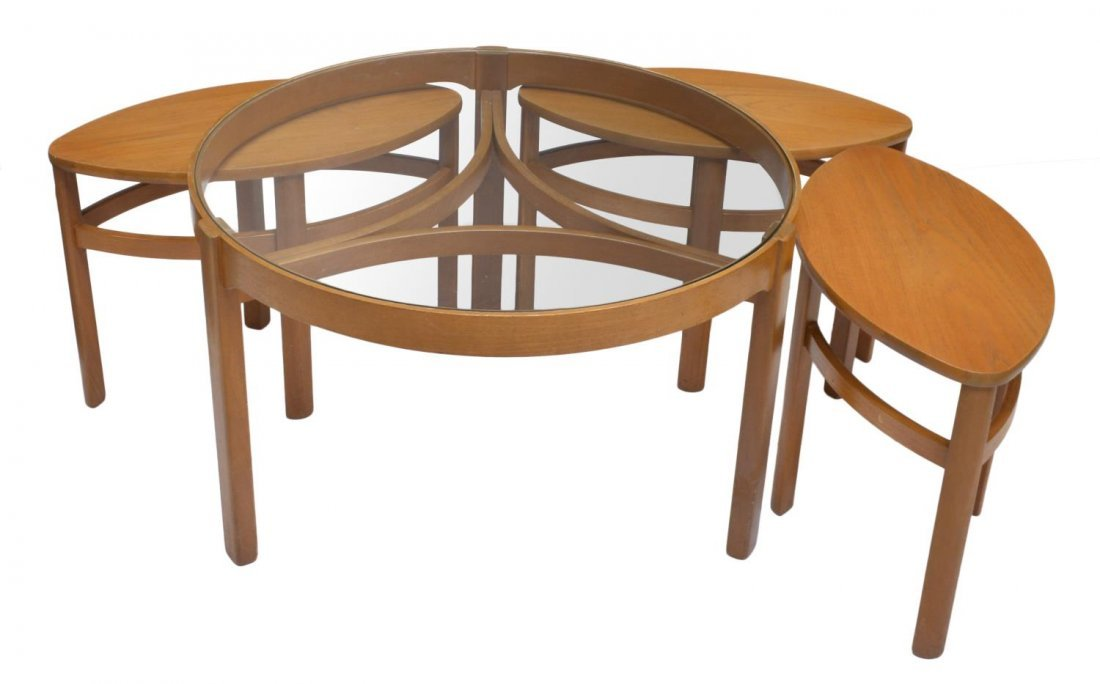 ENGLISH MID-CENTURY MODERN STYLE NESTING TABLES - 2